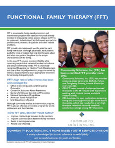 Functional Family Therapy (FFT) – Community Solutions, Inc.